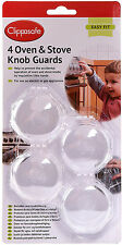 Clippasafe OVEN & STOVE/COOKER 4 KNOB GUARDS Child/Baby Proofing Home Safety BN
