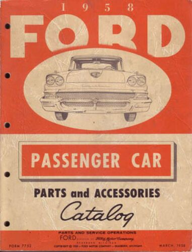 OEM Repair Maintenance Parts Book Bound for Ford All Models /& Ranchero 1958