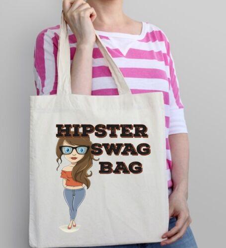 Hipster Fun Tote Bag Swag Bag Hipster Girl Birthday Gift Present Cool Shopping