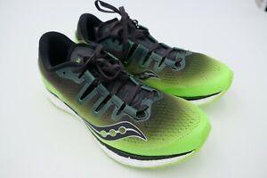 brand new 52dfd 04385 Image is loading Saucony-Mens-Freedom-ISO-Running-Sneaker-Slime-Black-