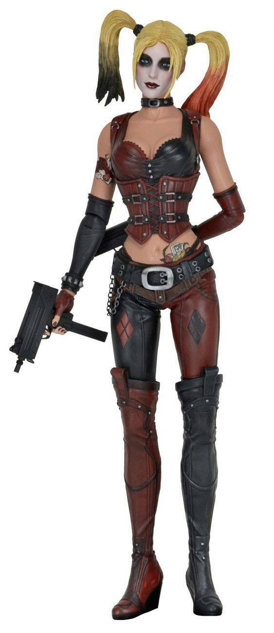 Batman Arkham City - Grande Harley Quinn Figura de Acción Neca ca.46cm Nuevo (L)
