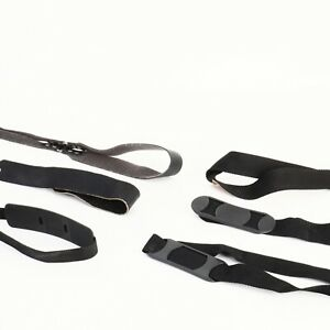 * Unbranded Black Leather and Nylon Camera Straps (Lot of 6)
