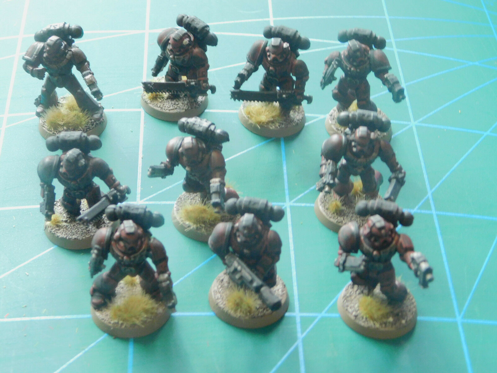 10 warhammer 40k dungeons dragons space marine painted plastic figures
