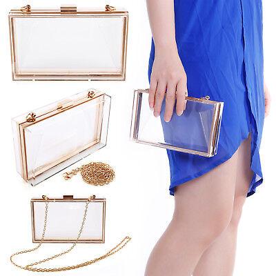 Premium Acrylic Transparent Shape Evening Bag Prom Clutches Women Ladies Handbag