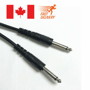 10FT-6-35mm-1-4-034-Guitar-AMP-Instrument-Patch-JACK-Male-Lead-Cable-Cord
