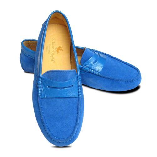 da blu guida da Mocassini italiane camoscio donna scarpe in qASp85