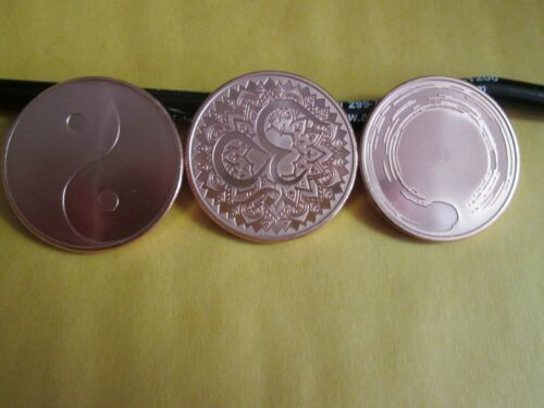 2017 ENSO  YIN YANG  AUM  Eternal Wisdom Series Silver Shield copper set of 3