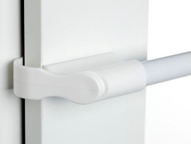 Klemmstange weiß 75 - 125 cm ausziehbar Gardine Fenster Vitrage ohne bohren