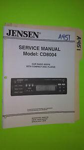 jensen cd8004 service manual original repair book stereo car radio rh ebay com jensen boat radio manual ms3a jensen radio manual jwm6a