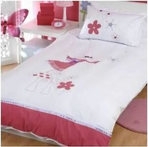 Fairy Ballerina Embroidered Doona Quilt Cover Sgle NEW | eBay : fairy quilt cover - Adamdwight.com