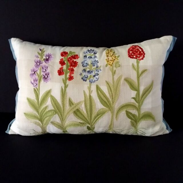 2 Pier 1 Imports Embroidered Floral Throw Pillows For Sale Online