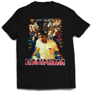 New-Style-Eminem-The-Real-Slim-Shady-Rap-T-Shirt-Black-Men-039-s-S-234XL-G1260