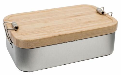 """Lunchbox XL /"""" BAMBOO /"""" Deckel aus Bambus Holz nachhaltige Brot Dose Stilvolle"""
