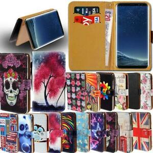 Leather-Smart-Stand-Wallet-Card-Cover-Case-For-Samsung-Galaxy-Mobile-Phones