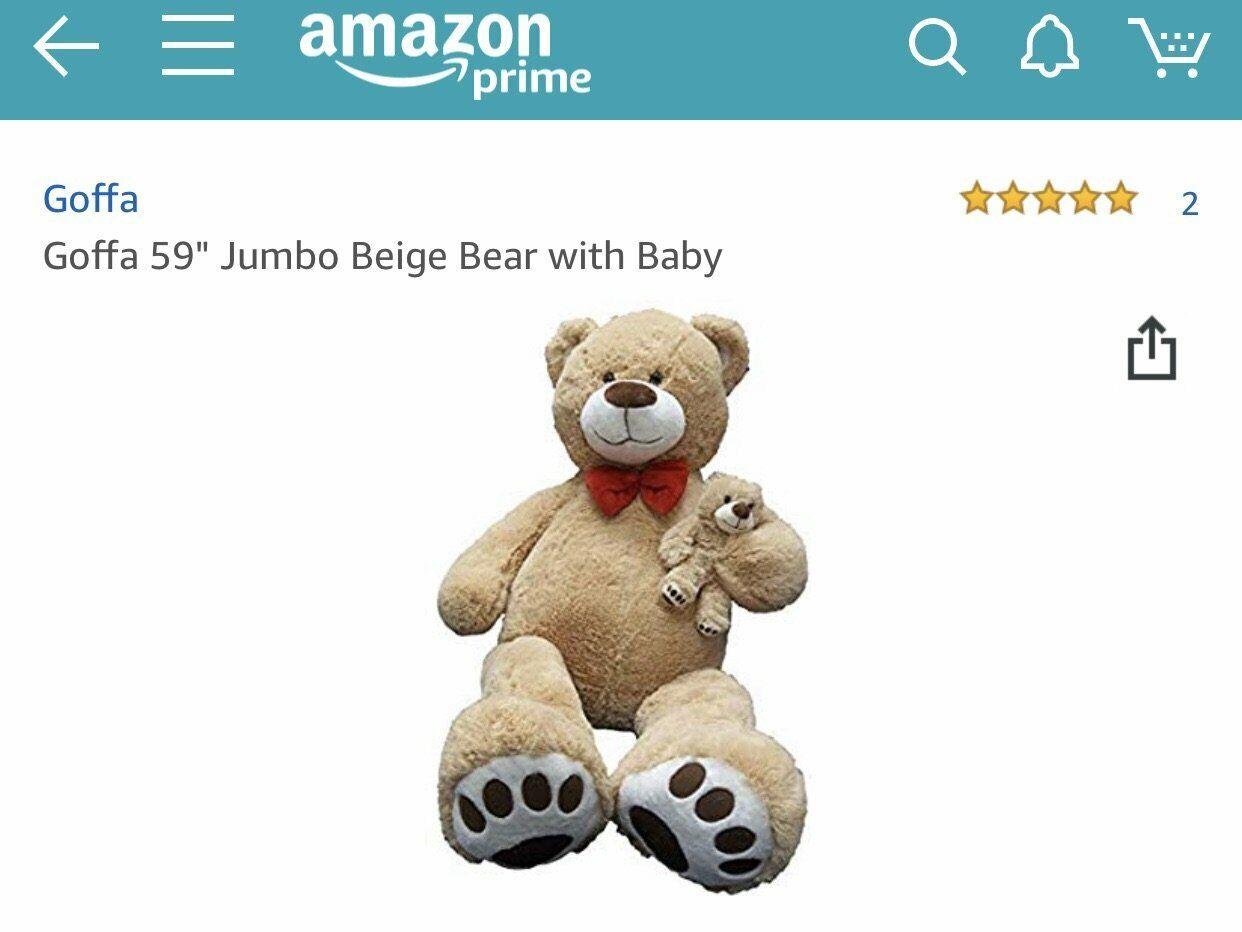Goffa 59  Jumbo Bear with Baby (Beige)