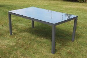 Alu Tisch Tisch Aluminium Tisch Mit Glasplatte Terrassentisch