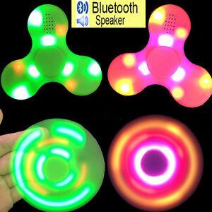 LED Bluetooth Speaker Hand Spinner Fidget Finger Gyro ws EDC ADHD Autism Toys