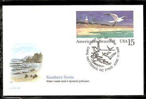 US-SC-UX132-The-Seashore-FDC-Fleetwood-Cachet