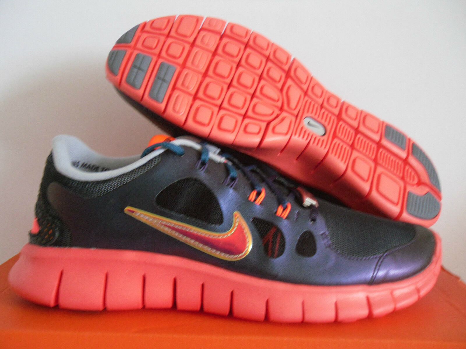 NIKE FREE 5.0 DB (GS) JAKE WOLF GREY-CRIMSON SZ 5Y-WOMENS SZ 6.5 [639871-065]