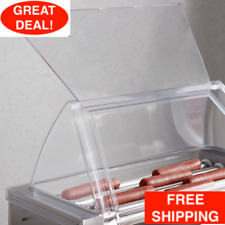 Rg1812sg 12 Hot Dog Roller Grill Sneeze Guard For Avantco Rg1812 Grill