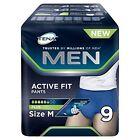Tena Men Active Fit Pants M(fianchi 75-105 Cm) 9 Pannoloni incontinenza Uomo