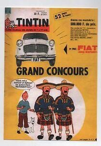 Carte-Postale-couverture-Journal-TINTIN-n-6-de-1962-Grand-Concours