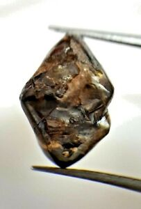 Big-Uncut-Diamond-8-54TCW-Gray-Brown-Sparkling-Natural-Octahedron-shape-for-Ring