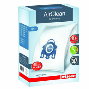 Miele-10123210-AirClean-3D-Efficiency-Dust-Bag-Type-GN-4-Bags-amp-2-Filters