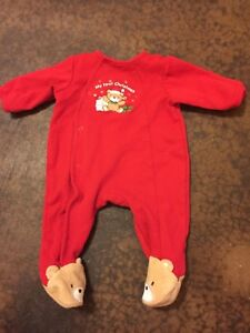 My First Christmas Teddy Bear Footie One Piece-Brand Little Me-3M ... d5d792fab