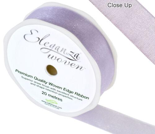 Premium Woven Organza Ribbon Wedding Birthday Party Craft 3 lengths 28 colours