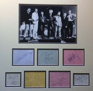 GENE VINCENT & FRIENDS SIGNED AUTOGRAPHS