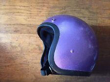 VTG Custom Paint Motorcycle Helmet Bell R-T, RT Purple 1975 Sz 7 3/8