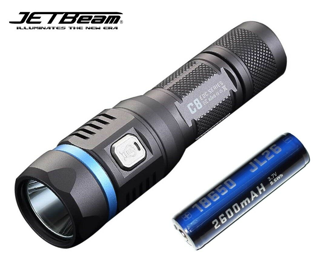 New Jetbeam C8 PRO Luminus SST40 1200lm USB Charge LED  Flashlight With Battery  grandi offerte