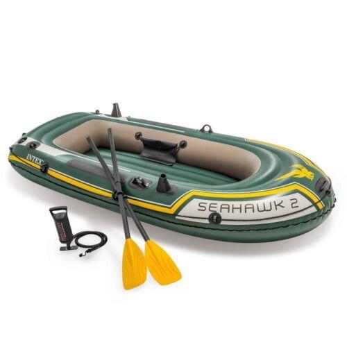 Canotto Seahawk 2 Intex 68347 gonfiabile con remi pompa mare lago gommone Rotex