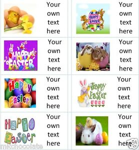 40 x personalised easter labelsstickers cakegift bagspartyegg image is loading 40 x personalised easter labels stickers cake gift negle Gallery