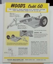 Woods Equipment Cadet 60 Gear Driven Rotary Cutter Tractors Hay Brush Weed Cut