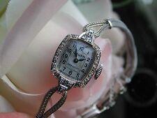Ladies Art Deco Gruen 14K SOLID Diamond Watch