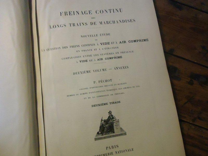 RARE - FREINAGE  CONTINU lungoS i treni DE MARCHeISES AIR COMPRIME - VIDE 1919  vendita con alto sconto