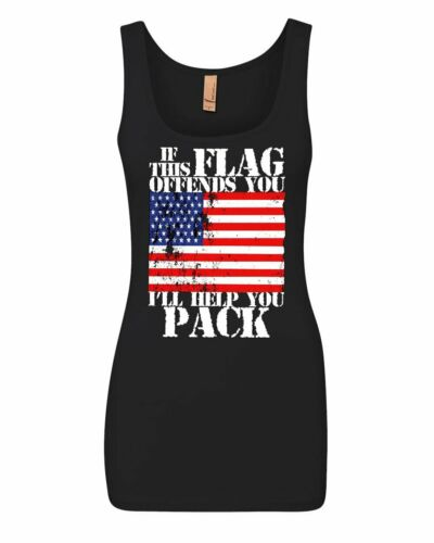 If This Flag Offends You I/'ll Help You Pack Women/'s Tank Top Patriotic Top