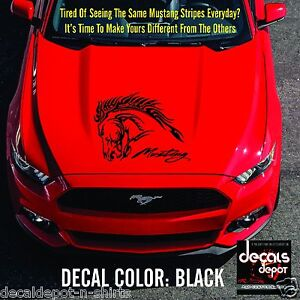 Hood-Tribal-Horse-Head-Fits-FORD-Mustang-Shelby-GT-V6-Convertible-2000-to-2017