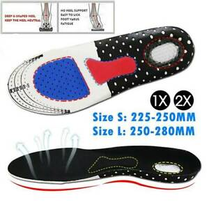1 PAIR Shoe Insoles Orthopedic Memory Foam Sport Arch Support Insert Soles Pads