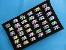US SELLER-50 cents/ring-30 AB color stainless steel rings men jewelry wholesale