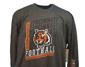 Cincinnati-Bengals-NFL-Majestic-Long-Sleeve-T-Shirt-Grey-Mens-Big-amp-Tall