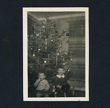 Weihnachten WEIHNACHTSBAUM / CHRISTMAS TREE & CHILDREN * Vintage 1930s Photo