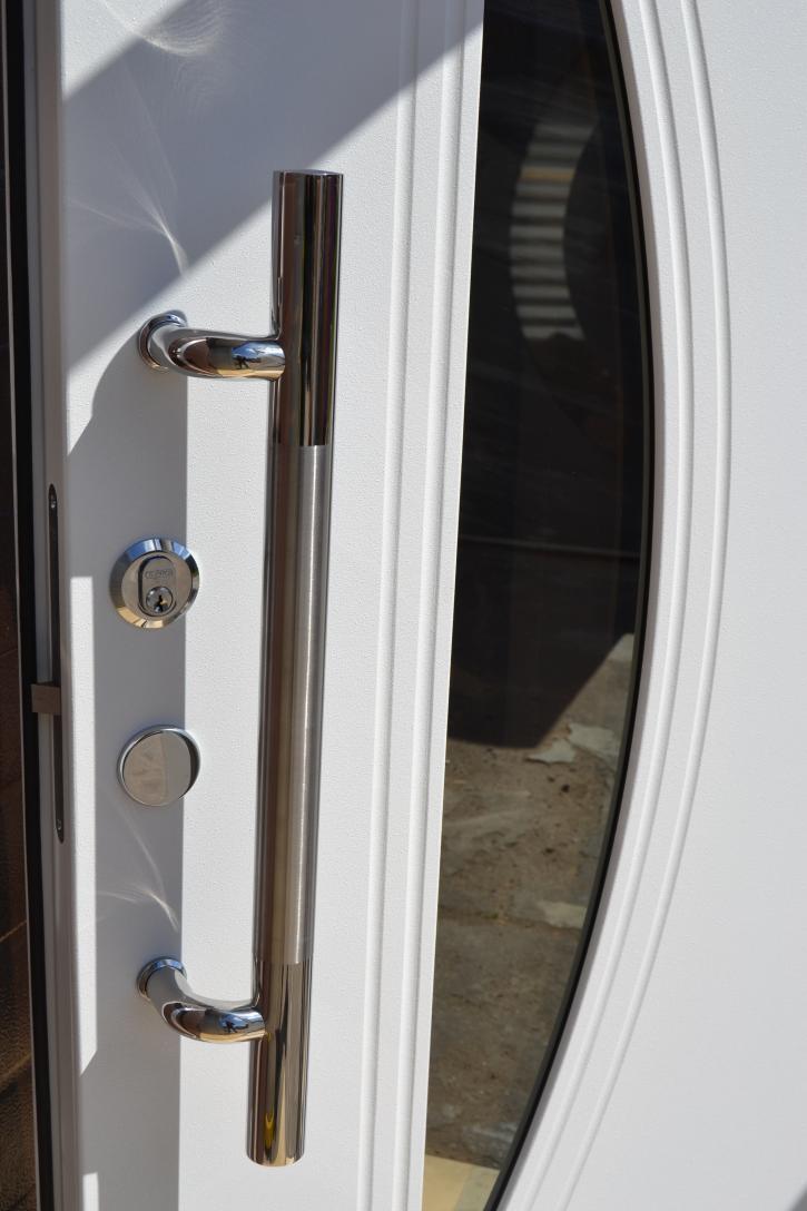 Nr.2,  Wohnungstür Haustüren Glaseinsatz Moderne Tür Türen 1,00x2,10m weiß.Neu