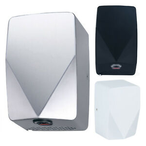 V DRY COMPACT HAND DRYER AUTOMATIC ELECTRIC HIGH SPEED COMMERCIAL DRIER BLUE LED