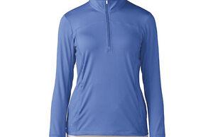 on sale 48b13 d3dd2 Image is loading Adidas-Women-Rangewear-Half-Zip-Jacket-S-Baja-