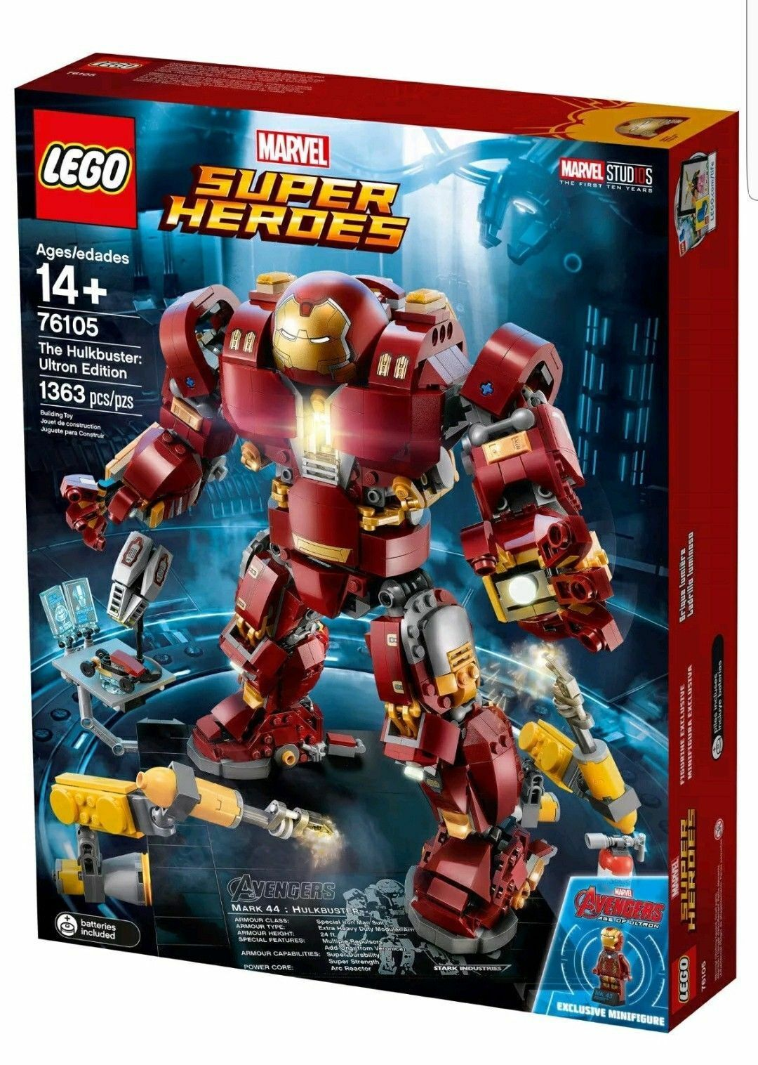 LEGO 76105 The Hulkbuster Ultron Edition  Marvel Super Heroes Hulk Buster Legos