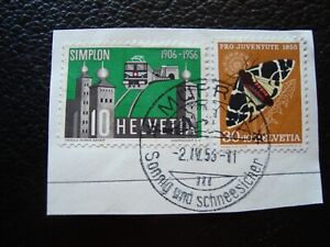 Switzerland-Stamp-Yvert-Tellier-N-570-573-Cancelled-A39