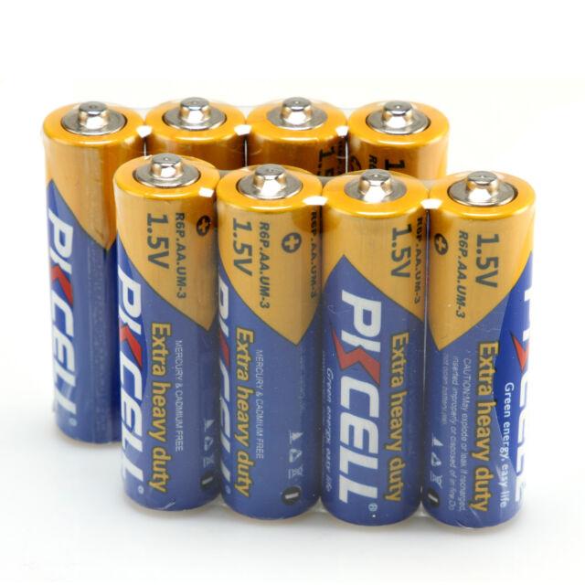 4-20 PKCELL 2A/AA Heavy Duty Carbon-Zinc Battery R6P 1.5V Mercury Free Batteries